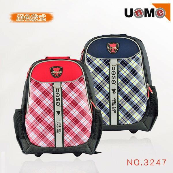 【送UNME餐袋】【UnMe】台灣製 兒童書包 蘇格蘭紋 可放筆電 3247 兩色