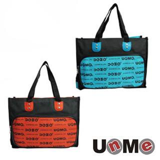 【UNME】台灣製 便當袋 兒童餐袋 雙面Logo兩用手提袋 1314 (紅)(綠)兩色