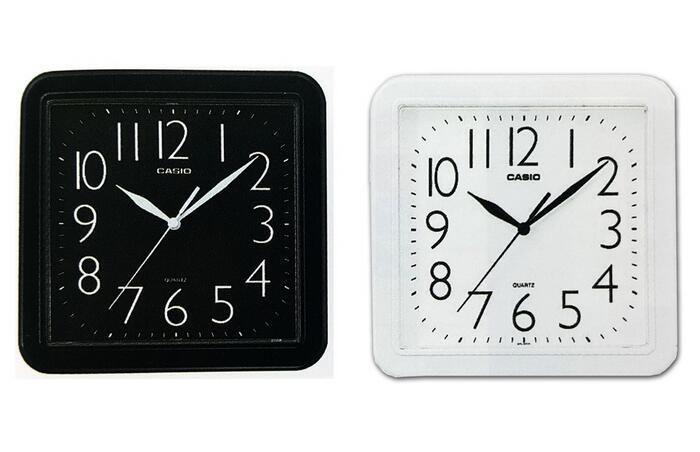平價包包專賣店 【CASIO】清晰數字典藏方形掛鐘 流線大方指針方形掛鐘 時鐘 鬧鐘 房間必備 IQ-02S