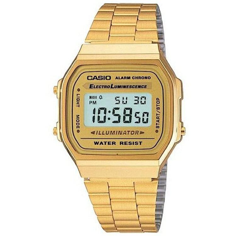【CASIO】卡西歐復古時尚流行金錶 A168WG A168WG-9W 防水 台灣公司貨保固一年 附原廠保固卡