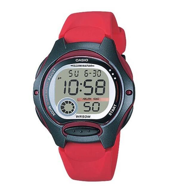 【 CASIO】 卡西歐可愛電子錶/兒童錶LW-200 LW-200-4A防水/照明 台灣卡西歐公司貨保固一年附原廠保卡