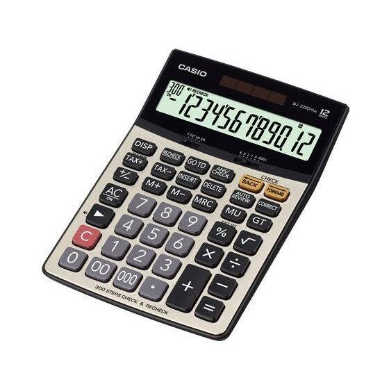CASIO 計算機專賣店 DJ-220D PLUS 大螢幕 12位數 步驟記憶功能 小數位 稅率 全新