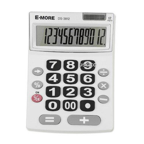【E-MORE】北歐風格計算機 按鍵超大 看起來超舒服 長輩超愛用 DS-3812