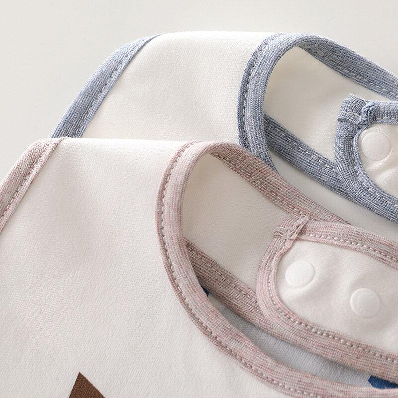 三條裝嬰兒口水巾新品純棉防水圍嘴【免運】