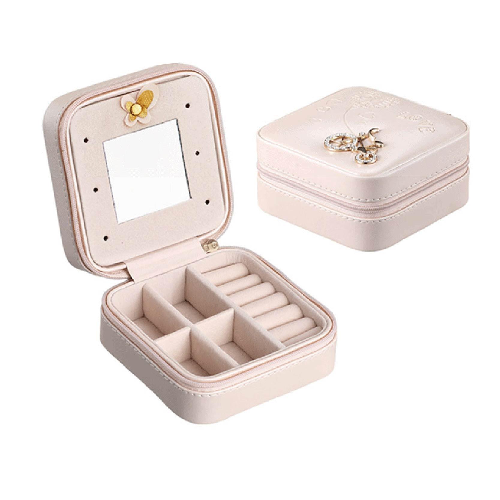 【隨身飾品收納盒】飾品盒 珠寶盒 鏡子珠寶盒 首飾盒 首飾收納盒 飾品收納【AB108】 1