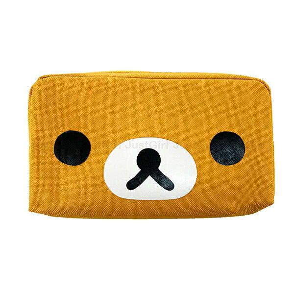 懶懶熊 拉拉熊 筆袋 鉛筆盒 收納包 化妝包 大方形 文具 配件 正版日本授權 JustGirl