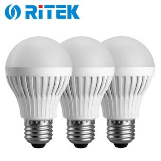 【3入】RiTEK 錸德 7W LED燈泡 白光【三井3C】