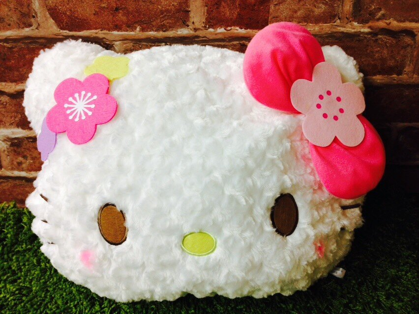 【真愛日本】16041300005櫻花頭型抱枕45CM-K腮紅  三麗鷗Hello Kitty凱蒂貓 頭枕 靠枕 居家用品