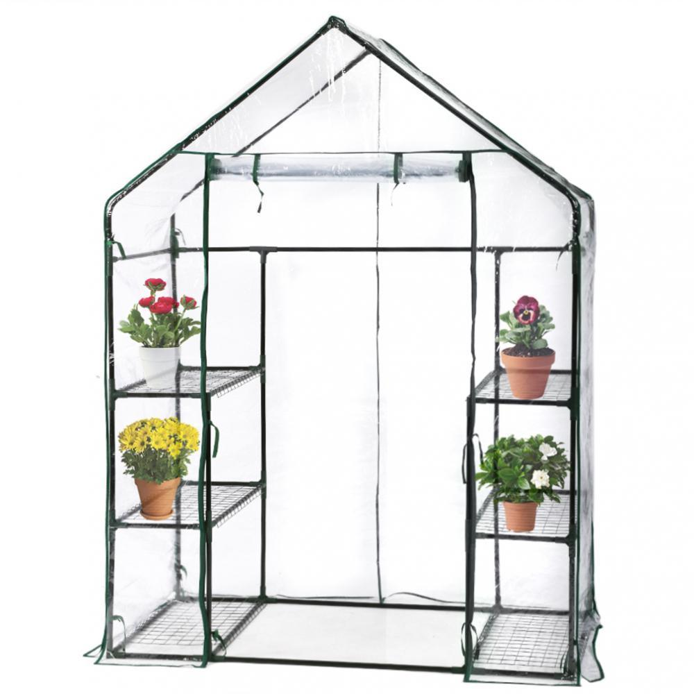 Bon Portable Mini Greenhouse Outdoor Plant Shelves Canopy Winter Walk In Green  House 0