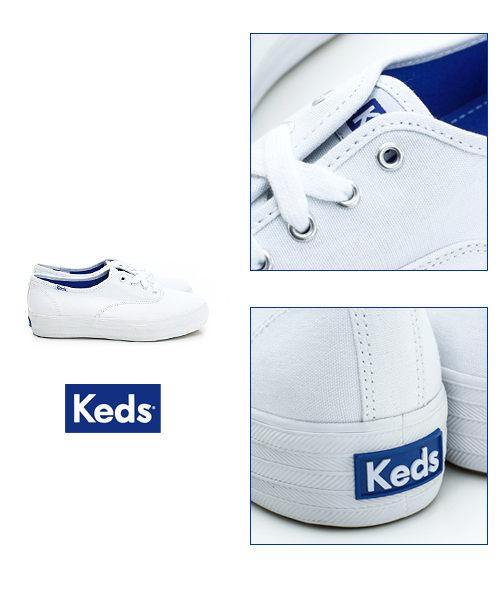 KEDS 171W130026 經典厚底帆布鞋 白鞋綁帶懶人鞋厚底休閒鞋 5