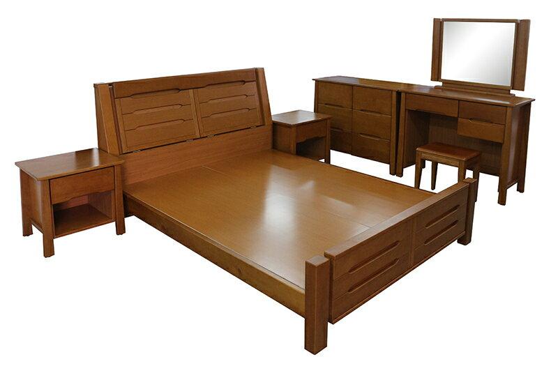 【尚品傢俱】793-09 艾美爾5尺半實木床組+7尺衣櫃/雅房家具組/套房傢俱組/臥室櫥櫃床組/出租屋床櫃組