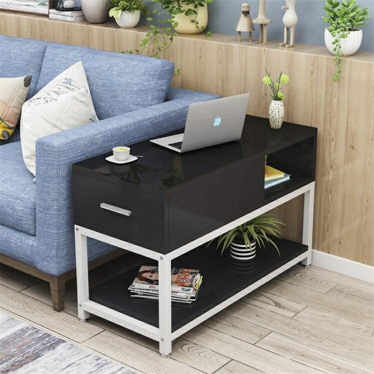 簡約客廳邊角幾小茶幾小桌鋼化玻璃沙發邊櫃側邊櫃沙發扶手櫃邊桌
