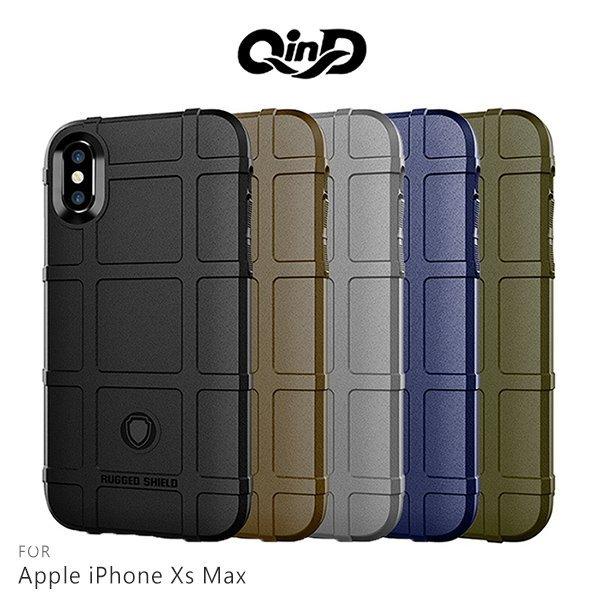 【東洋商行】QinD Apple iPhoneXs Max 戰術護盾保護套 邊緣全包 減震抗摔