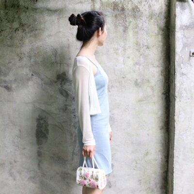 手提包釘珠晚宴包-純手工縫製精緻花朵女包包6色73sn20【獨家進口】【米蘭精品】
