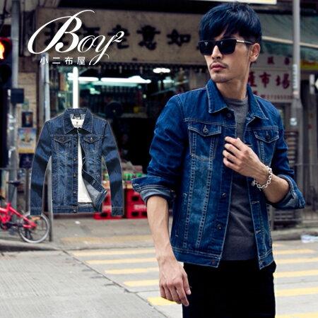 ☆BOY-2☆【NQ98040】牛仔外套 美式素面單寧夾克 0