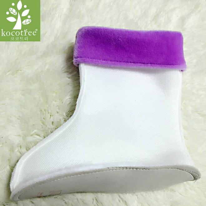 Kocotree◆精選雨鞋專用兒童雨鞋保暖內襯-紫色