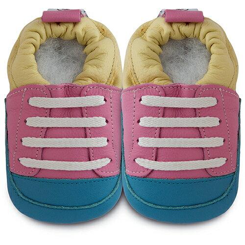 【hella 媽咪寶貝】英國 shooshoos 健康無毒真皮手工鞋/學步鞋/嬰兒鞋 優游自在 102827 (公司貨)