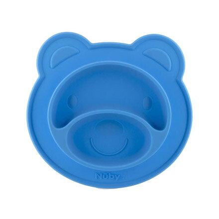 Nuby 小熊矽膠餐盤【悅兒園婦幼生活館】