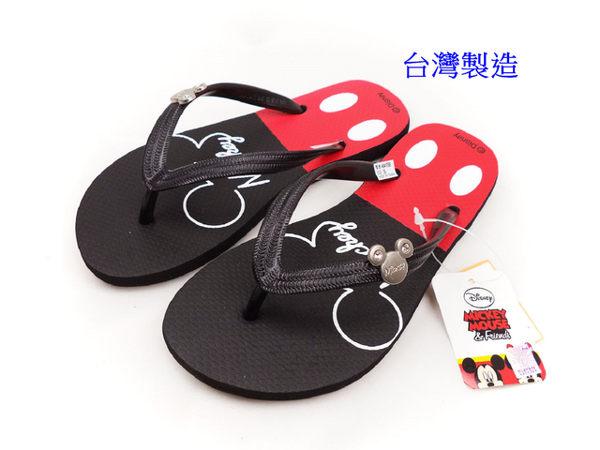EMMA商城^~Disney迪士尼可愛米奇夾腳拖鞋黑色36~40號^(親子款^)