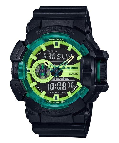 【時光鐘錶】G-SHOCK CASIO GA-400LY-1A 卡西歐 防水 運動 雙顯 錶