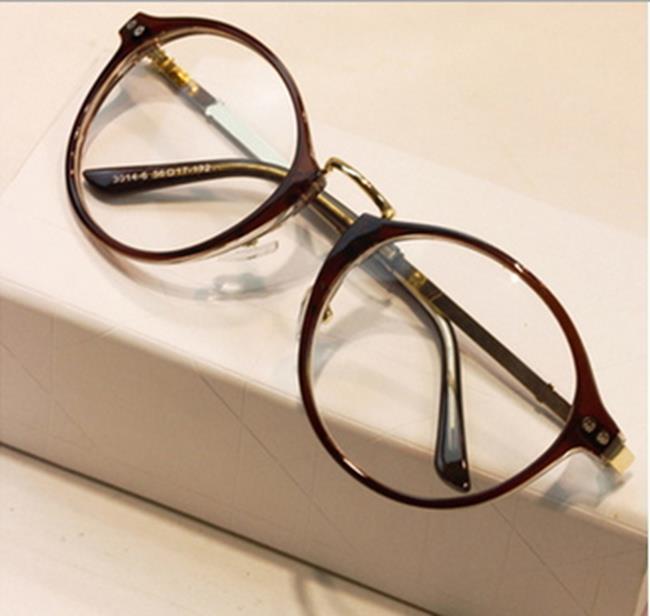 50%OFF【J011443Gls】韓版流行平光鏡2183 潮男金屬修型圓框眼鏡架 時尚學生眼鏡附眼鏡盒