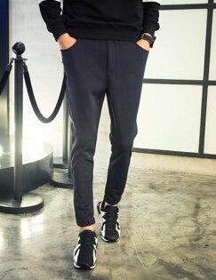 FINDSENSE品牌束腳褲男超舒適修身運動長褲小腳哈倫褲韓版