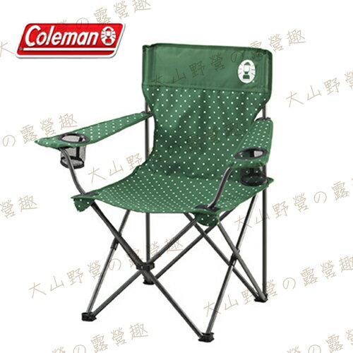 【露營趣】中和安坑 Coleman CM-16996 圓點綠度假休閒椅 摺疊椅 大川椅 導演椅