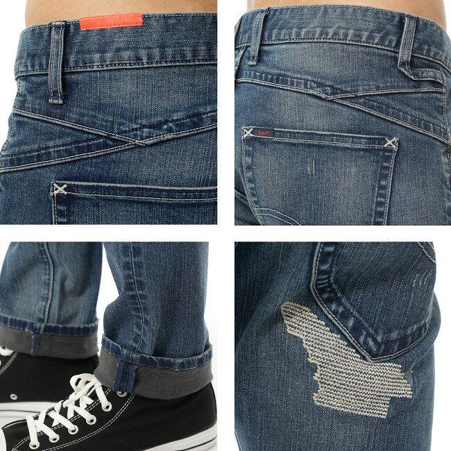 Lee Magma 709 低腰合身小直筒牛仔褲 4