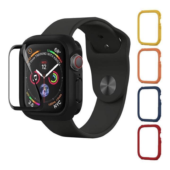 犀牛盾 Apple Watch 44MMCrashguard NX 保護殼 +4 飾條(紅/藍/黃/橘) + 保護貼