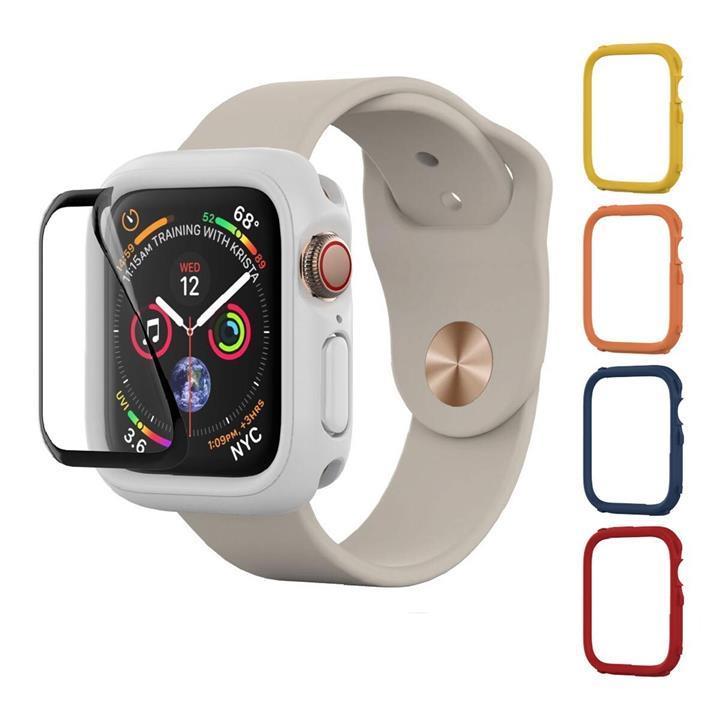犀牛盾 Apple Watch 40MMCrashguard NX 保護殼 +4 飾條(紅/藍/黃/橘) + 保護貼