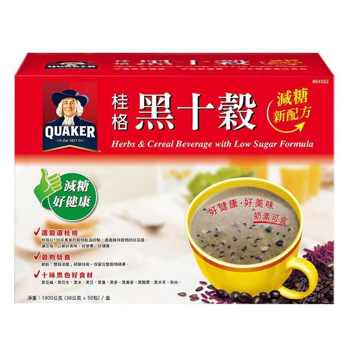 桂格減糖黑十穀 38公克 X 50入 (2包裝)