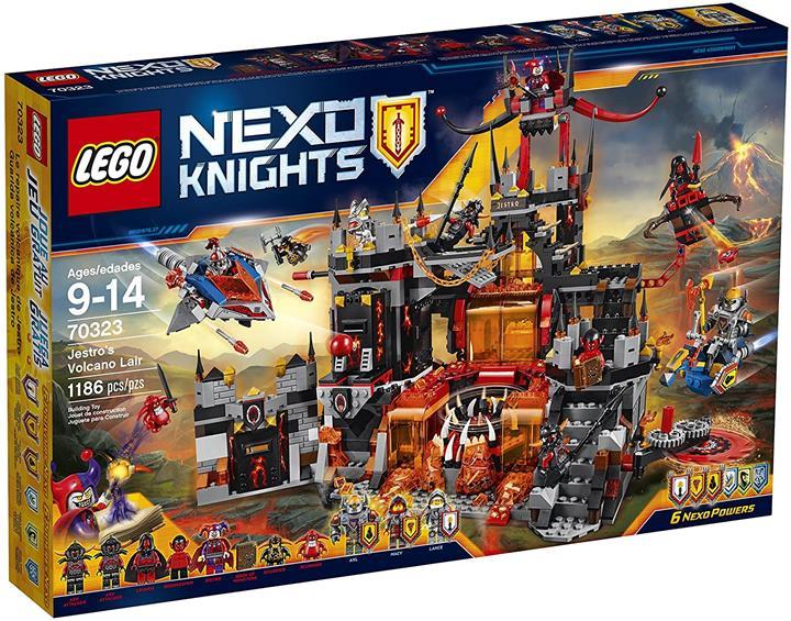 LEGO 樂高 Nexo Knights 70323 Jestro's Volcano Lair Building Kit(1186 Piece)