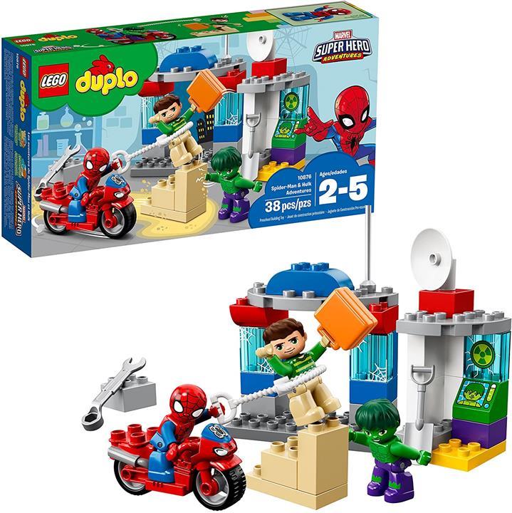 LEGO 樂高 DUPLO漫威蜘蛛俠和綠巨人歷險記10876積木(38件)