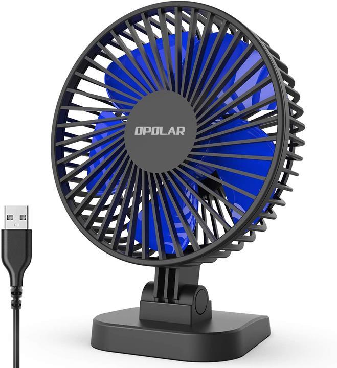 【日本代購】OPOLAR 最強大的USB風扇 靜音 風量3檔轉換 臺式 小型風扇機