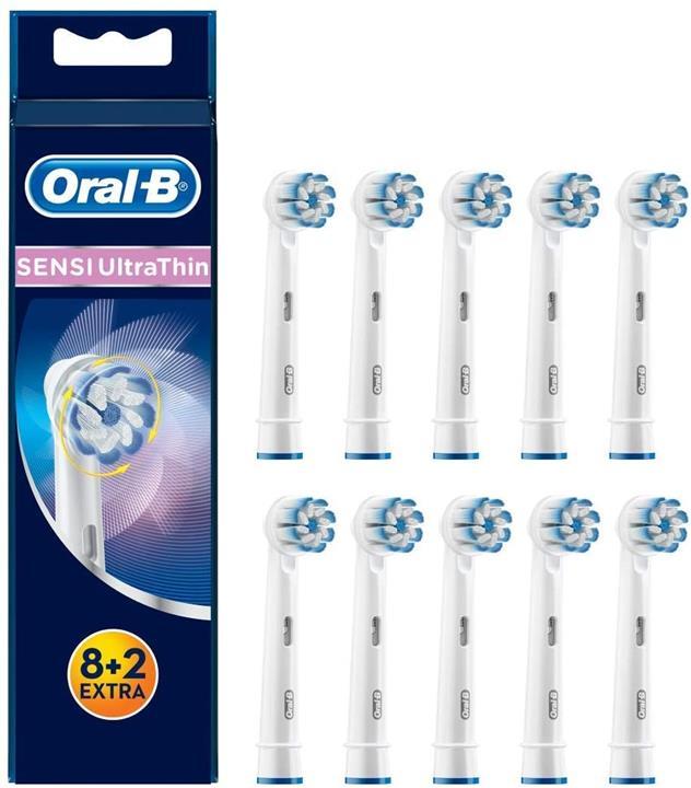 【日本代購】博朗OralB替換刷 超細軟毛刷/ SENSI超薄10支EB60-8 + 2