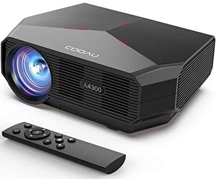 【日本代購】COOAU 投影儀 家庭用 5500lm LED 支持1080P 全高清 家用投影儀  19201080最大解析度 家庭影院