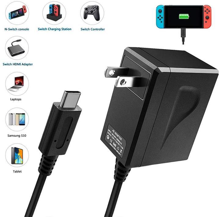 【日本代購】Switch AC適配器Nintendo Switch專用充電器 PSE認證 電線長度1.5m