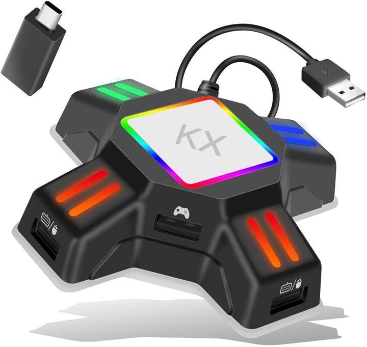 【日本代購】鍵盤/滑鼠連接適配器遊戲轉換器遊戲控制器轉換適配器 Nintendo Switch / PS4 / Xbox 相容