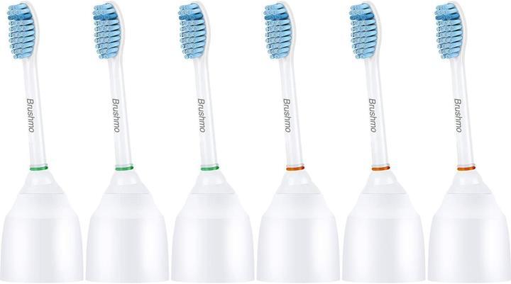 【美國代購】Brushmo敏感替換牙刷頭 適用於飛利浦Sonicare e系列HX7052 6件裝