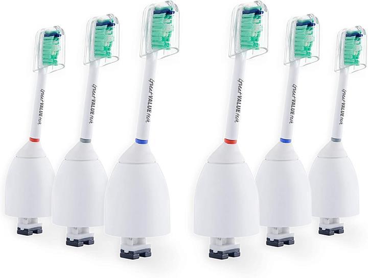 【美國代購】與飛利浦Sonicare E系列相容的6X聲波牙刷頭 6件裝