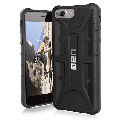 【美國代購】UAG iPhone 8  7  6s Plus [5.5英寸屏幕]探路者羽毛燈堅固[黑色]軍用摔落測試iPhone手機殼