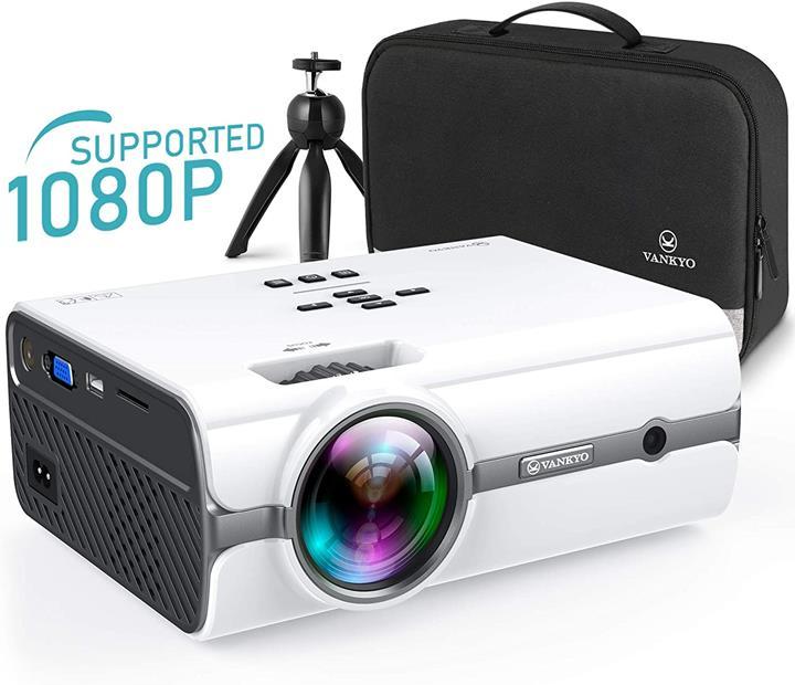 【美國代購】VANKYO Leisure 410 [2020年升級]支持帶有電視棒和1080P的微型投影機