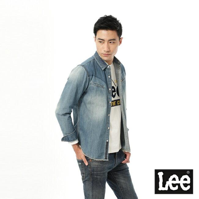 Lee 牛仔長袖襯衫 101+ 男款 淺藍 1