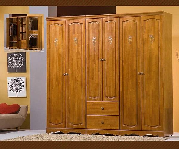 【尚品家具】776-03 田間鄉村彩繪半實木7尺衣櫥~另有5尺