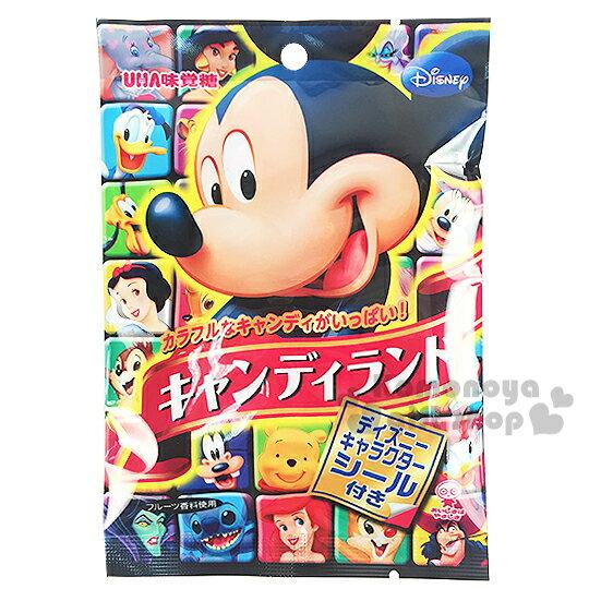 〔小禮堂〕日本原產 UHA味覺糖 迪士尼米奇糖《50g.軟糖.滿版角色袋裝》