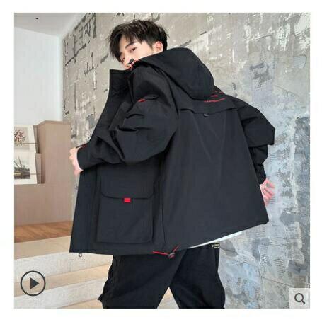 男士工裝外套秋冬季加絨2020新款韓版潮流百搭棒球上衣服夾克男裝