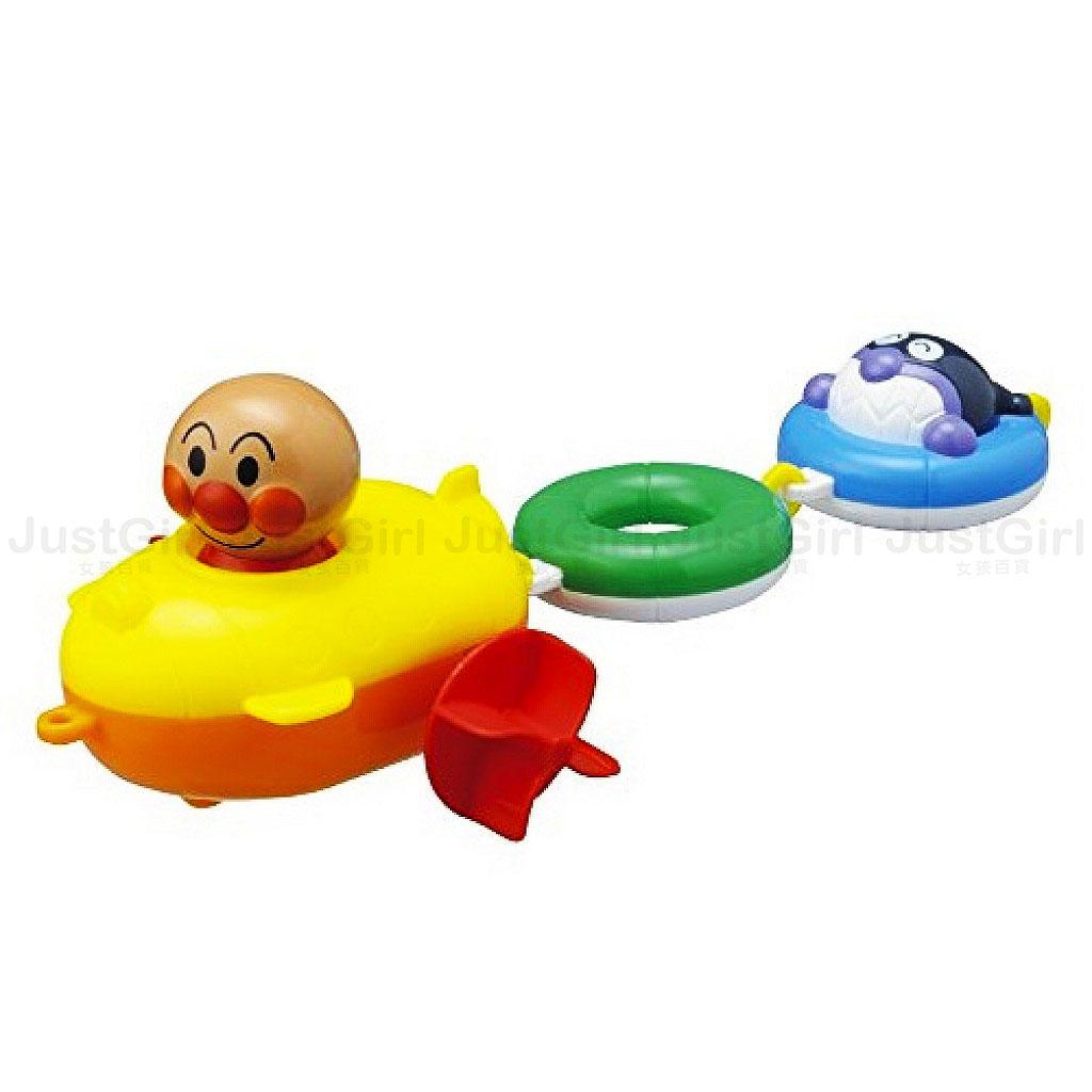 麵包超人 Anpanman 洗澡泡澡玩具 拖曳船 游泳圈 細菌人 玩具   ^~ Just