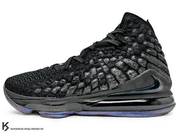 2019-2020 NBA 最新款 LeBRON JAMES 最新代言 NIKE LEBRON XVII EP 17 BLACK 全黑 全新 KNITPOSITE 飛織鞋面 前 15mm ZOOM MAX AIR 後 MAX AIR 氣墊 小皇帝 雷霸龍 KING LAKERS 頂級科技 籃球鞋 (BQ3178-001) 1119 0