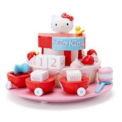尼德斯Nydus 日本正版 三麗鷗 Hello Kitty 凱蒂貓 美樂蒂 公仔 積木 萬年曆 桌曆 組合式日曆 擺飾
