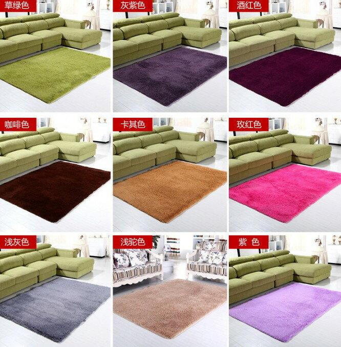 加厚純色客廳臥室地毯廠茶几床邊地墊門墊防滑墊地毯3.5cm